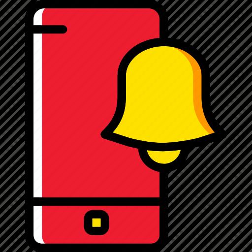 alarm, communication, function, mobile, phone icon
