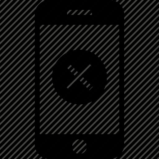 app, cancel, delete, exclude, mobile, remove, smartphone icon