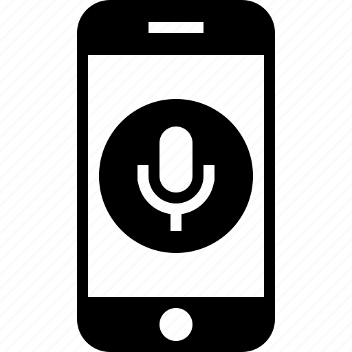 audio, microphone, mobile, record, smartphone icon