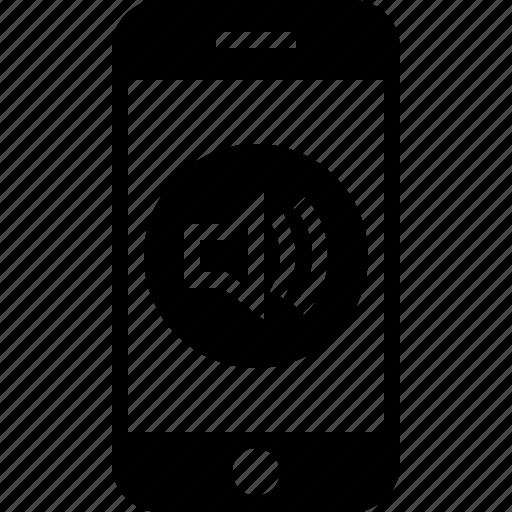 app, mobile, sound, volume icon