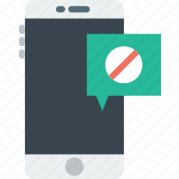 communication, file, forbidden, function, mobile icon