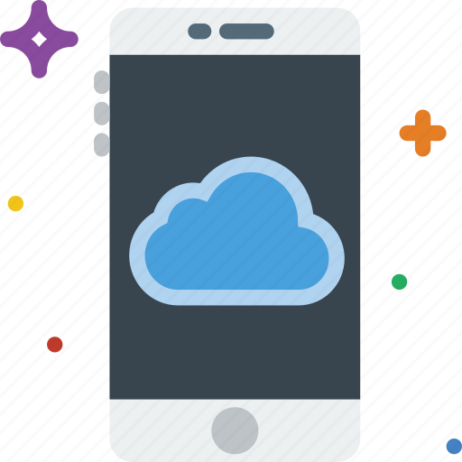 cloud, communication, function, mobile, storage icon
