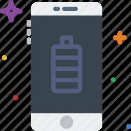 battery, communication, full, function, mobile icon