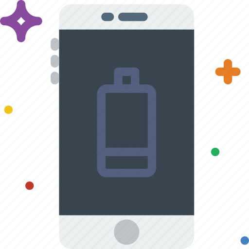 battery, communication, function, low, mobile icon