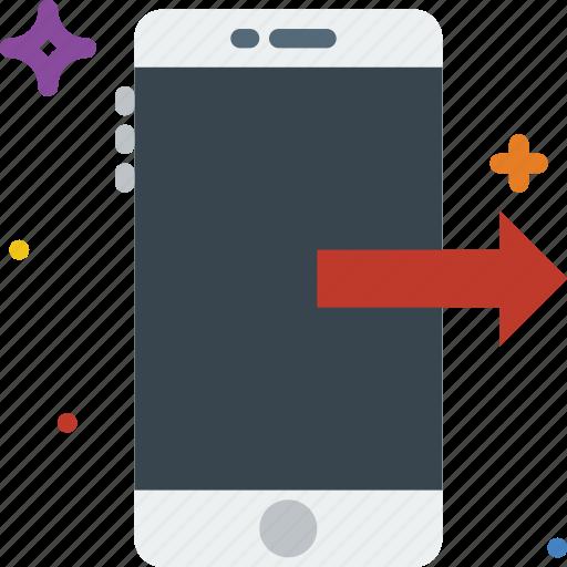 attachment, communication, function, mobile, send icon