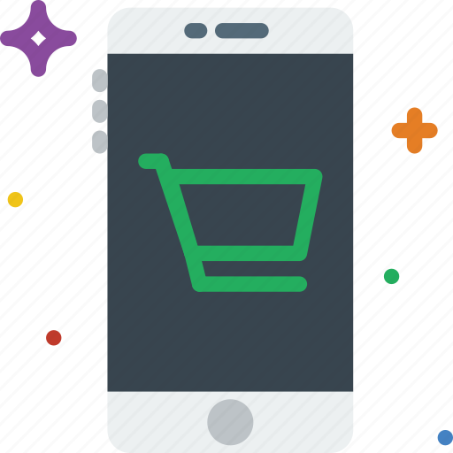 cart, communication, function, mobile, shopping icon
