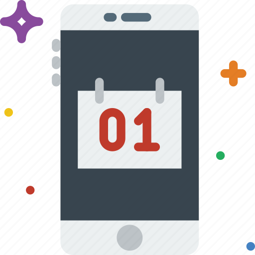 calendar, communication, function, mobile icon