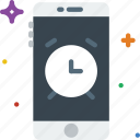 function, communication, alarm, mobile icon