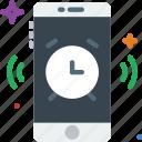 function, communication, alarm, mobile, ringing icon
