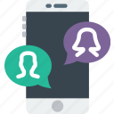 communication, conversation, function, mobile, phone icon