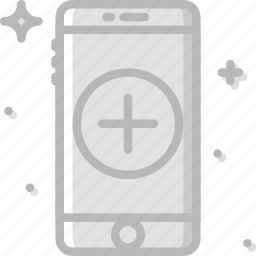 add, communication, function, mobile, phone icon