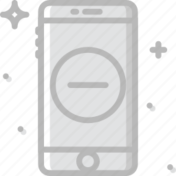 communication, function, mobile, phone, substract icon