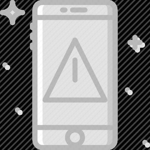 communication, function, mobile, phone, warning icon