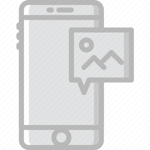 communication, function, mobile, picture, receive icon