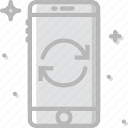 communication, function, mobile, phone, sync icon