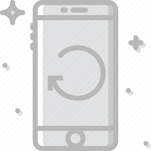 communication, function, mobile, phone, refresh icon