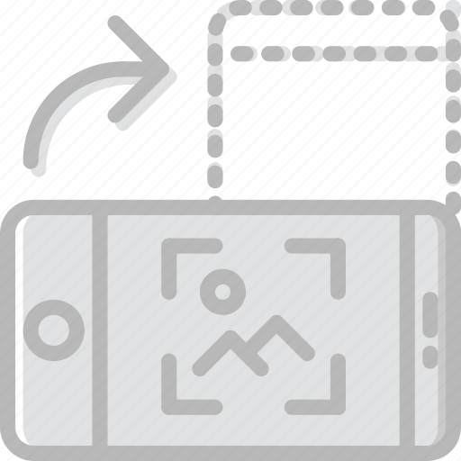 communication, function, mobile, portrait, rotate icon
