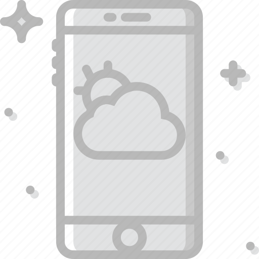 app, communication, function, mobile, weather icon