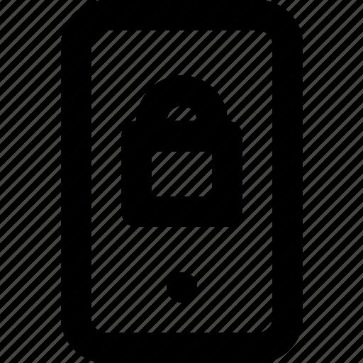 communication, function, lock, mobile, phone icon