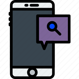 attachment, communication, function, mobile, search icon
