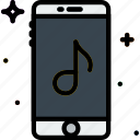 communication, function, mobile, music, phone icon