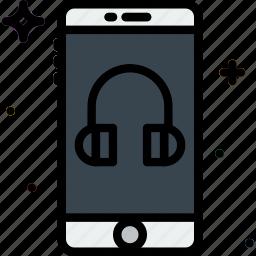 communication, function, headphone, mobile, mode icon
