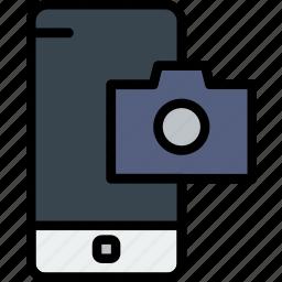 camera, communication, function, mobile, phone icon