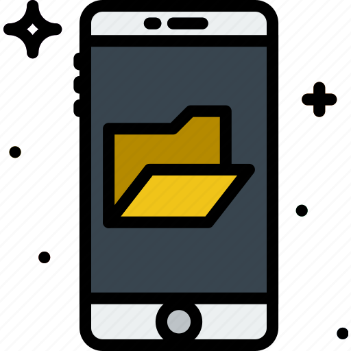 communication, folders, function, mobile icon