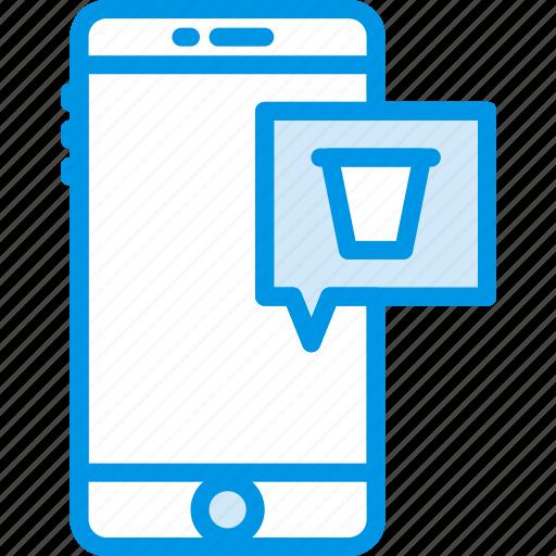 attachment, communication, delete, function, mobile icon