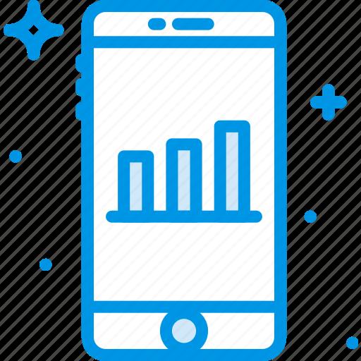 analytics, communication, function, mobile icon
