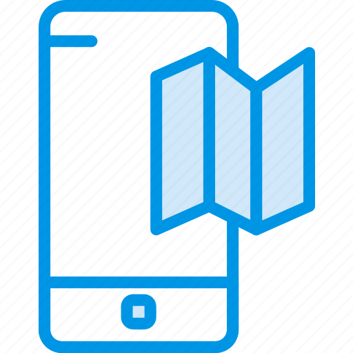 communication, function, maps, mobile, phone icon