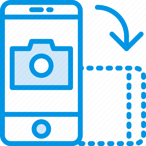 communication, function, landscape, mobile, rotate icon
