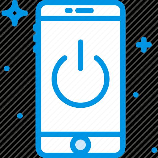 communication, down, function, mobile, phone, shut icon