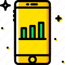 analytics, communication, function, mobile icon