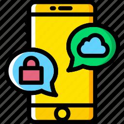 communication, conversation, function, mobile, phone icon