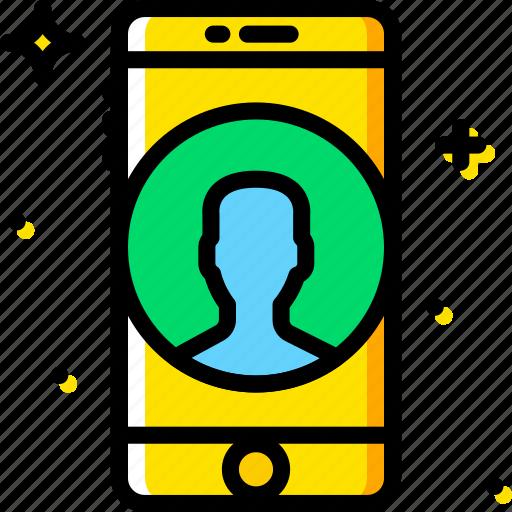 communication, function, mobile, phone, profile icon