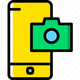 camera, communication, function, mobile, phone icon