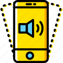 communication, function, mobile, phone, vibration icon