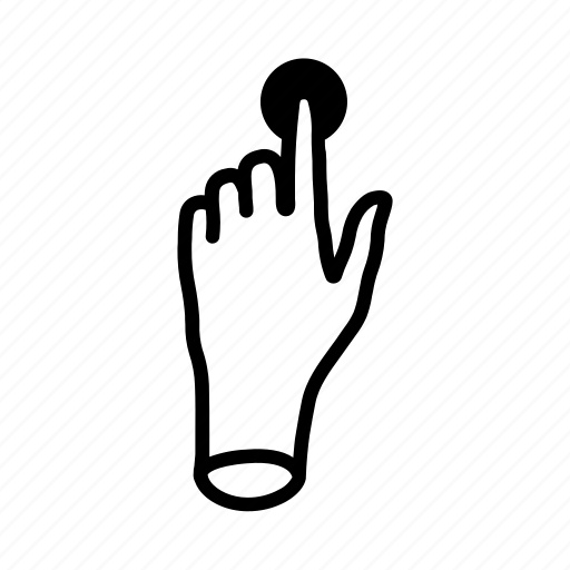 gestures, hand, mobile, tap, touch icon