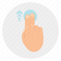 finger, gestures, swipe, touch, two, up, vertical icon
