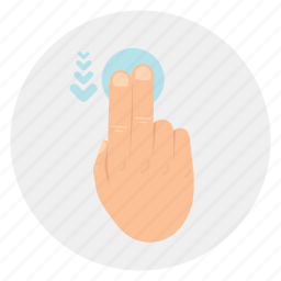 down, finger, gestures, multi, swipe, touch, two, vertical icon