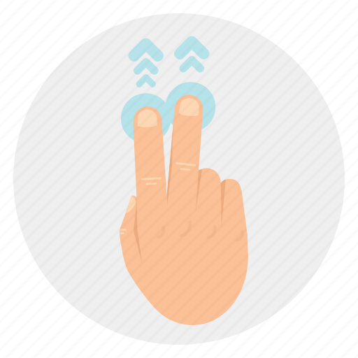 gestures, swipe, touch, two finger, up, vertical icon