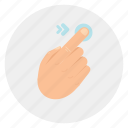 finger, gestures, left, swipe, touch icon