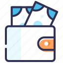 add money, cash, cash back, money, purse, wallet icon