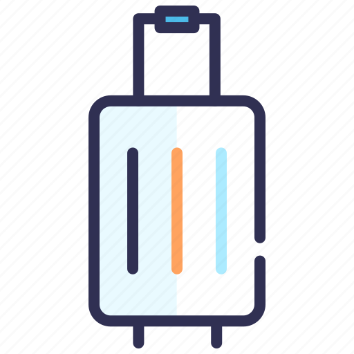 baggage, insurance, luggage, service, travel, trolley icon