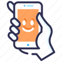 customer care, insurance, mobile protection, mobile safety, security, support service icon