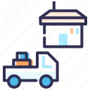 delivery truck, delivery van, home delivery, order, transport, vehicle icon