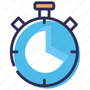 clock, performance, productivity, stopwatch, timer icon