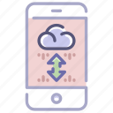 cloud, host, hosting, server, service, storage, transfer icon