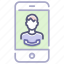 answer, call, calling, conference, mobile, talk, video icon